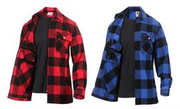 Concealed Carry Zippered Flannel Shirt Buffalo Plaid Rothco