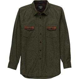 Pendleton  Men's Contrast Shirt Peat Moss Green Mix/Plaid La