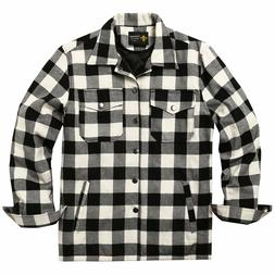 COOFANDY Mens Flannel Thermal Lined Plaid Button Down Shirt