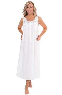 Alexander Del Rossa Womens 100% Cotton Lawn Nightgown, Sleev