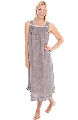 Alexander Del Rossa Womens 100% Cotton Lawn Nightgown, Long