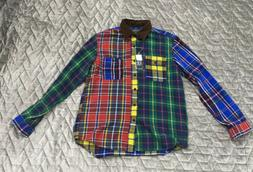 Polo Ralph Lauren Country Patchwork Plaid Check Sportsman Wo