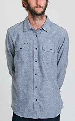 RVCA Men's Coyote Flannel Shirt, Midnight, X-Large
