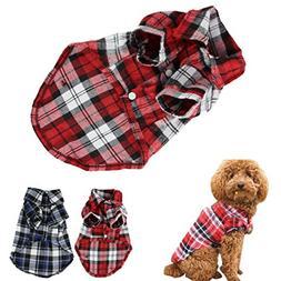 CXB1983Cute Pet Dog Puppy Clothes Shirt Size XS/S/M/L Blue R