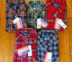 Deadstock WRANGLER Lot of 5 Flannel Flannel Shirts All XXL
