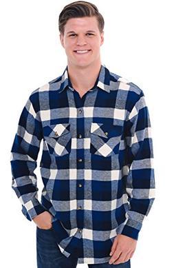 Alexander Del Rossa Del Rossa Mens Flannel Shirt, Long Sleev