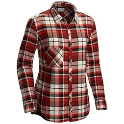 Columbia Deschutes River Flannel Shirt - Medium/Sail Red