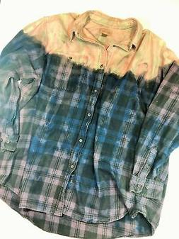 Distressed Bleached Flannel Shirt - Faded Glory - Men's 3XL