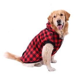 PAWZ Road Dog Plaid Shirt Coat Hoodie Pet Winter Clothes War