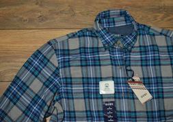 Izod Easy Care Hyannis Flannel Long Sleeve Button Down Plaid