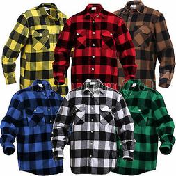 Extra Heavyweight Brawny Buffalo Plaid Flannel Shirt Long Sl