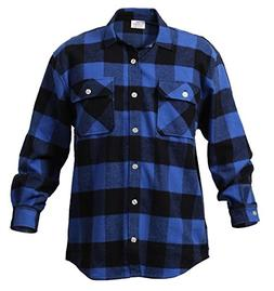 Blue Extra Heavyweight Brawny Flannel Shirt - 3X-Large
