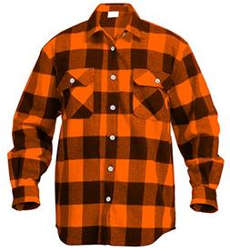 Rothco Extra Heavyweight Buffalo Flannel Shirts, Orange Plai