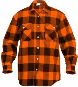 Rothco Extra Heavyweight Buffalo Plaid Flannel Shirt Long Sl