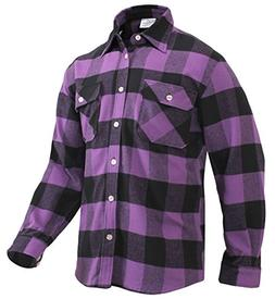 Rothco Extra Heavyweight Buffalo Plaid Flannel Shirt, Purple
