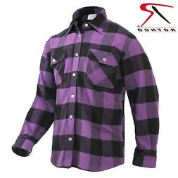 Rothco Extra Heavyweight Buffalo Plaid Purple Flannel Shirt