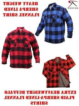 Rothco Extra Heavyweight Buffalo Plaid Sherpa-lined Flannel