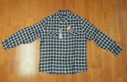 Field & Stream MensFlannel Shirt Charcoal MEDIUM LARGE XL XX