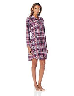 Woolrich Women's First Light Plaid Flannel Nightshirt, Deep