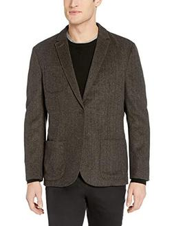Goodthreads Men's Standard-Fit Wool Blazer, tan Herringbone,