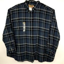 Foundry Flannel Button Down Shirt Men's Size 5XL Blue Plai