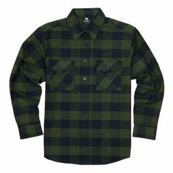 Yago Flannel Check Patterned Button Down Shirt Green / Black
