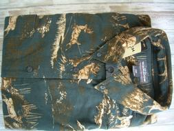 Woolrich Flannel Deer and Elk Print 2XLT Tall Mens Shirt New