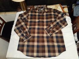 Carhartt Flannel Heavy Cotton button work chore Shirt Mens L