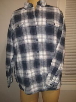 Woolrich Flannel Large Blk/White/Gry