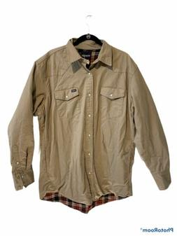 Wrangler Flannel Lined Pearl Snap Shirt Size XLT