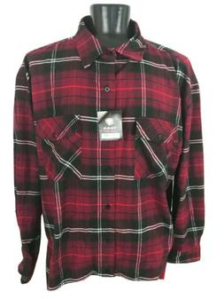Yago Flannel Long Sleeve Shirt Burgundy Black White Plaid Lo