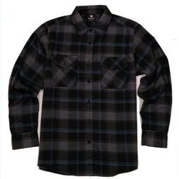 flannel long sleeve shirt charcoal black blue