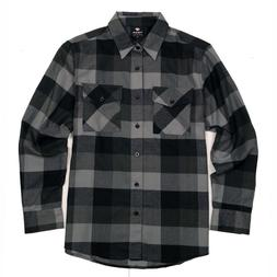 Yago Flannel Long Sleeve Shirt Gray YG2508-B4B