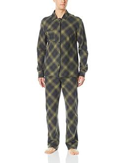 Pendleton Men's Flannel 2 Piece Pajama Set, Warm Green Plaid