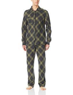 Pendleton Men's Flannel 2 Piece Pajama Set, Warm Green Plaid