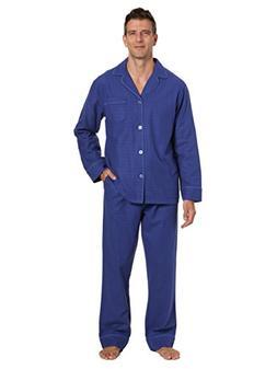 Men's Premium Flannel Pajama Set - Windowpane Checks - Navy