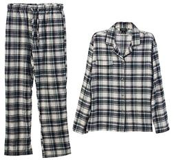 Gioberti 2 Piece Mens Flannel Pajamas, Shirt and Pants Set,