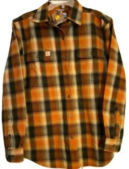 Carhartt Flannel Plaid Button Front Work Shirt Medium Origin