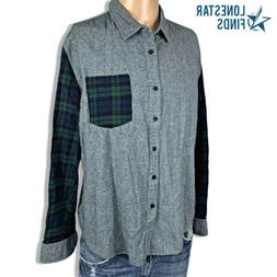 Coofandy Flannel Plaid Long Sleeve Button Front Casual Dress
