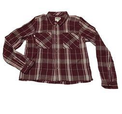Vans Flannel Shirt Daisy Crop Size XS