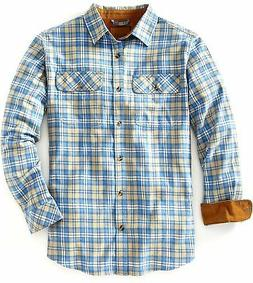 Venado Flannel Shirt for Men - Men's Plaid Flannel with Full