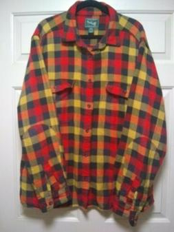 flannel shirt long sleeve xxl 100 percent