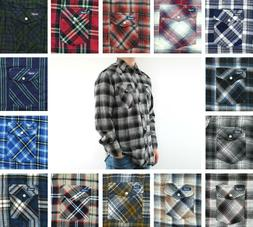 Wrangler Flannel Shirt Men's Plaid Western Long Sleeve Snap