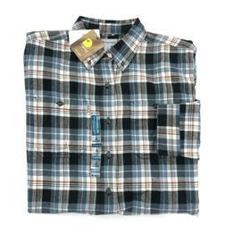 Carhartt Flannel Shirt Mens Large Tall Long Sleeve Button Fr