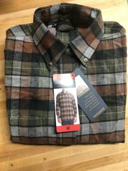 Pendleton Flannel Shirt Plaid MEDIUM BLUE BROWN LISTER Mens