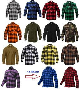 Rothco Flannel Shirts Heavyweight Brawny Buffalo Plaid Flann