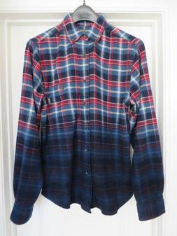 Woolrich Flannel Trout Run Men's shirt size Small Dip-Dyed O
