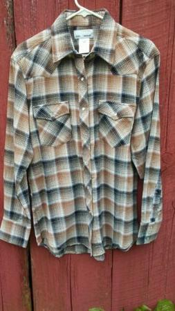 Wrangler Flannel Western Shirt - Medium - Pearl Snaps - New