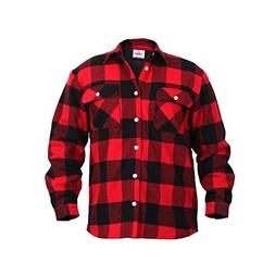 Rothco Fleece Lined Flannel Shirt, Large
