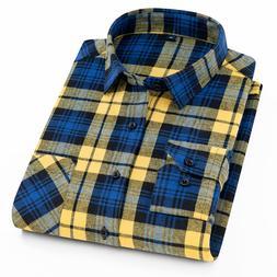 <font><b>Flannel</b></font> Men Plaid <font><b>Shirt</b></fo